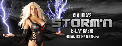 Claudia's STORM'N B-Day Bash-Best bikini bar
